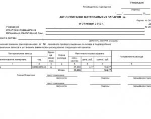 Акт Списания В Производство Материальных Ценностей Образец img-1