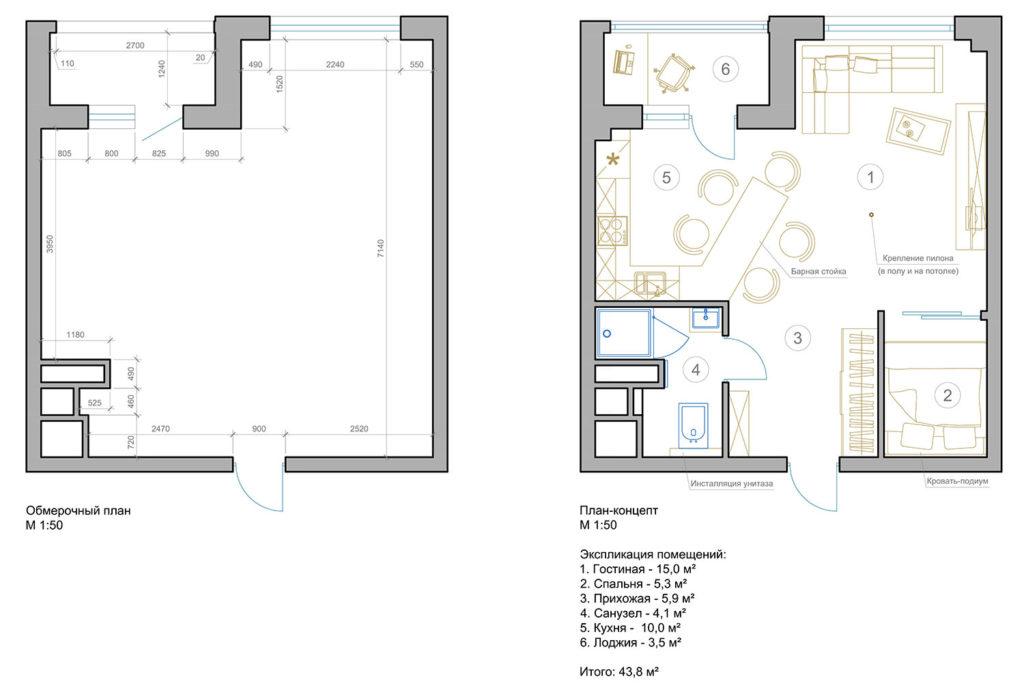 Что такое квартира студия?