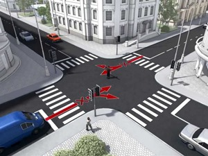 Правила проезда нерегулируемых перекрестков