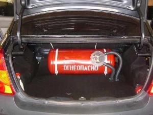 Штраф за газовое оборудование (ГБО) на автомобиле
